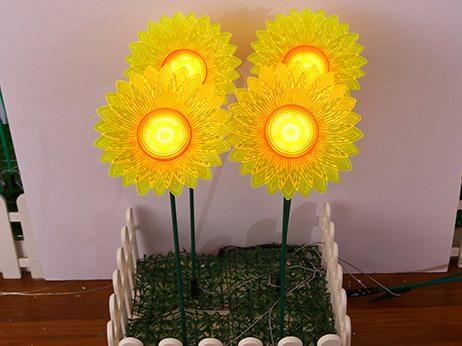 向日葵插地灯